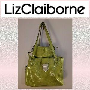 ☆Like New☆ Liz Claiborne Faux Crocodile skin
